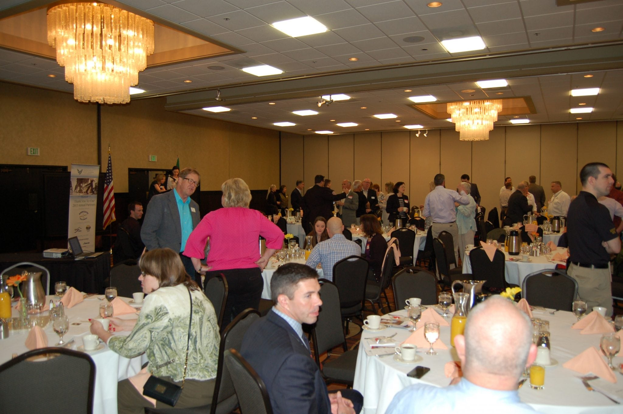 Networking is a great reason to attend the Business Connections events.
